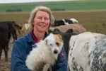 Lesley - who looks after our veal and youngstock